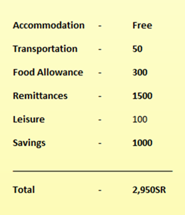 saudi arabia cost of living and expenses per month