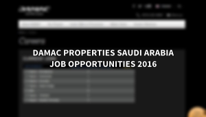 damac properties jobs SAUDI ARABIA