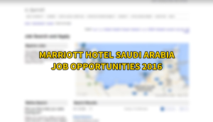 marriott hotel jobs SAUDI ARABIA