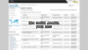IBM saudi arabia jobs