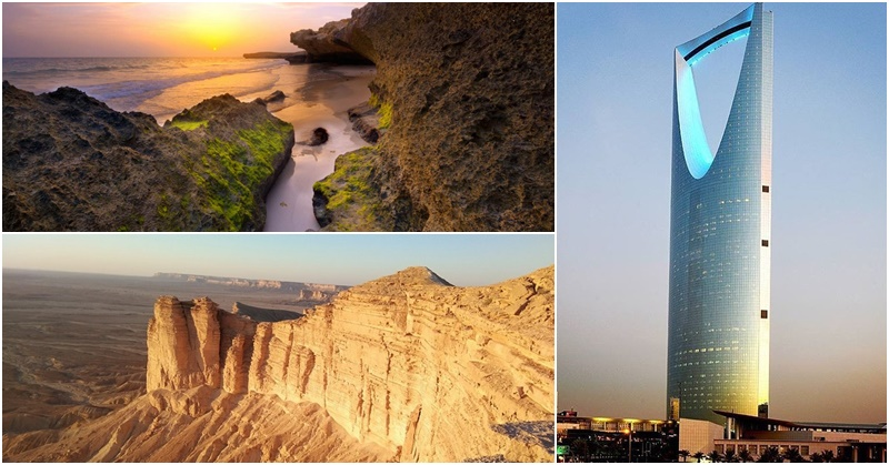 Places to Visit in Saudi Arabia - Saudi Tourism Website - Kingdom Centre - Edge of the World FB Pages