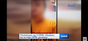 3 Saudi OFWs Robbed; One of the Victims Raped